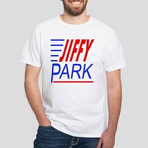 """Jiffy Park"" White T-Shirt"