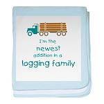 New Addition to a Logging Fam Infant Blanket