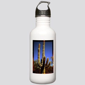 Saguaro against Blue Sky Stainless Water Bottle 1.