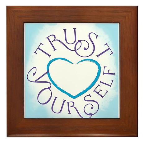 Trust Yourself Framed Tile