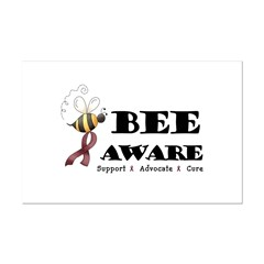 Bee Aware - Burgundy Posters