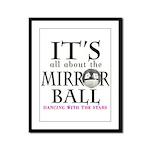 DWTS Mirror Ball Framed Panel Print