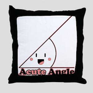 Acute Angle Throw Pillow
