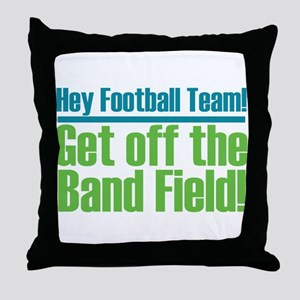 Marching Band Field Throw Pillow