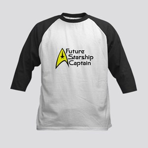 Future Starship Captain Kids Baseball Jersey
