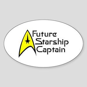 Future Starship Captain Sticker (Oval 10 pk)