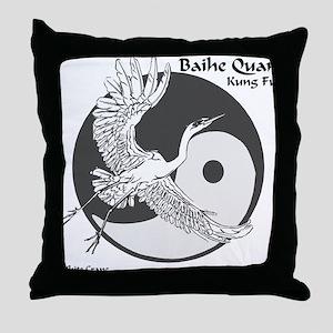 Baihe Quan Logo Throw Pillow