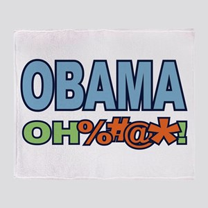 Obama Oh %#@* ! Throw Blanket