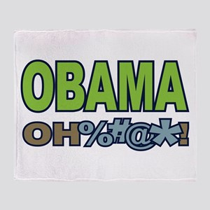 Obama Oh Crap! Throw Blanket