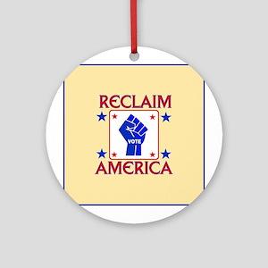 TAKE AMERICA BACK Ornament (Round)