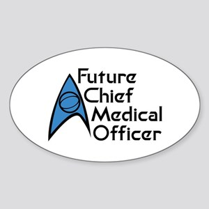 Future Chief Medical Officer Sticker (Oval 10 pk)