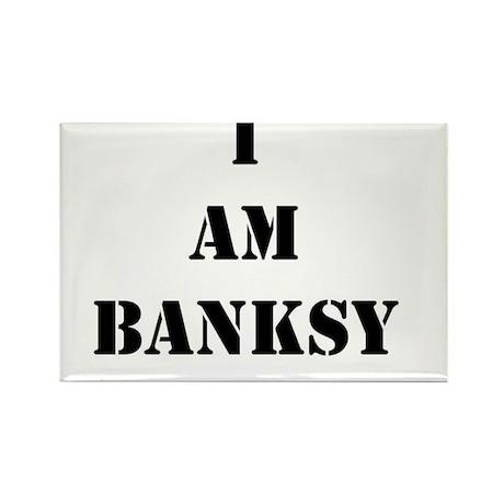 I Am Banksy Rectangle Magnet (100 pack)