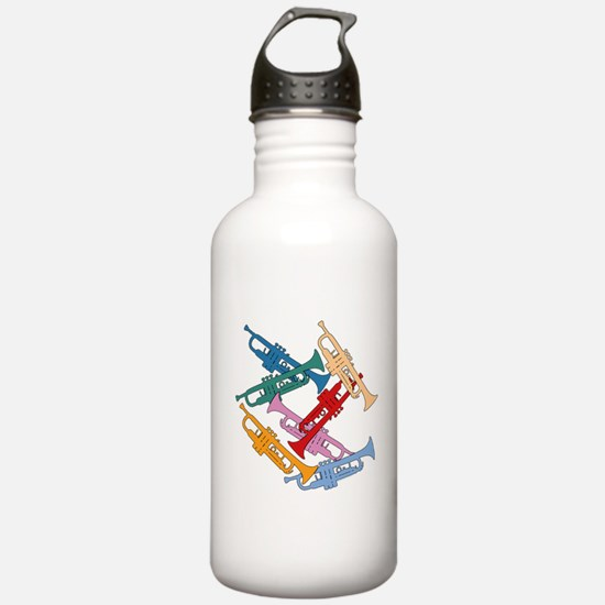Colorful Trumpets Water Bottle