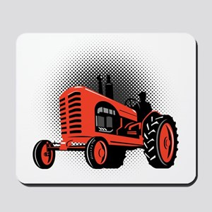 vintage farm tractor Mousepad