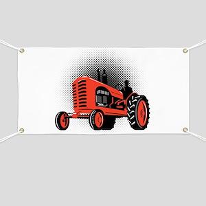 vintage farm tractor Banner