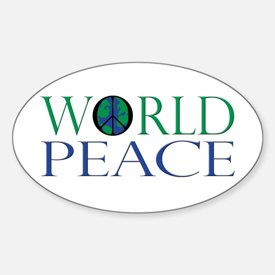 World Peace Sticker (Oval)