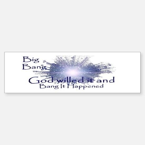 God's Big Bang Sticker (Bumper)