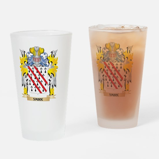 Smirk Family Crest - Coat of Arms Drinking Glass