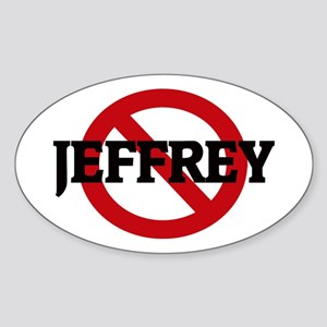 Anti-Jeffrey Oval Sticker