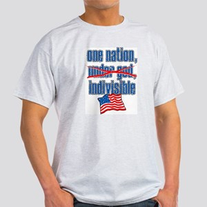 One Nation, Indivisible, Atheist Ash Grey T-Shirt
