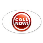 CALL NOW Oval Sticker