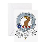 Wedderburn Clan Badge Greeting Cards (Pk of 10