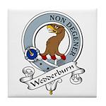 Wedderburn Clan Badge Tile Coaster