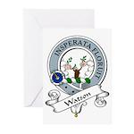 Watson Clan Badge Greeting Cards (Pk of 10)