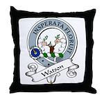 Watson Clan Badge Throw Pillow