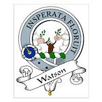 Watson Clan Badge Small Poster