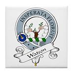 Watson Clan Badge Tile Coaster