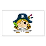 Cute Pirate Girl Sticker (50 pk)