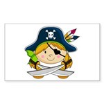 Cute Pirate Girl Sticker