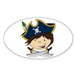Cute Pirate Boy Sticker