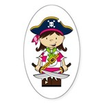 Cute Pirate Girl Sticker (10 pk)