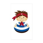 Cute Pirate Boy Sticker (50 pk)