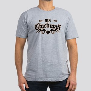Cincinnati 513 Men's Fitted T-Shirt (dark)