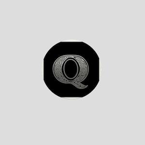 Q Monogram Mini Button