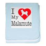I Love My Malamute Infant Blanket
