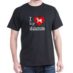 I Love My Malamute Dark T-Shirt