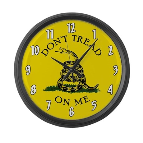 Dont Tread On Me Large Wall Clock
