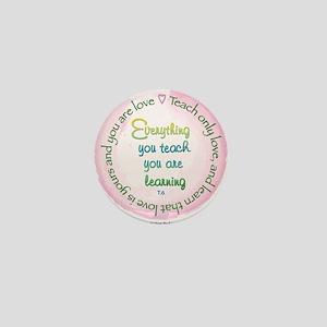 Teach Only Love Mini Button