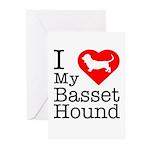 I Love My Basset Hound Greeting Cards (Pk of 20)