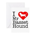 I Love My Basset Hound Greeting Cards (Pk of 10)