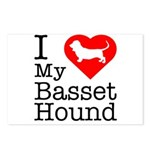 I Love My Basset Hound Postcards (Package of 8)
