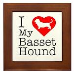 I Love My Basset Hound Framed Tile