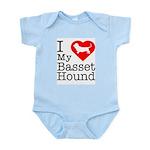 I Love My Basset Hound Infant Bodysuit