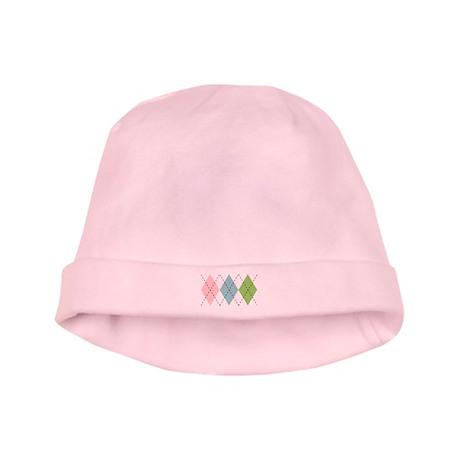 Pastel Argyle Infant Cap