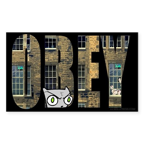 Obey Foamy Sticker (Rectangle)