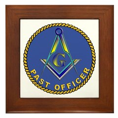 Masonic Past Officer Framed Tile